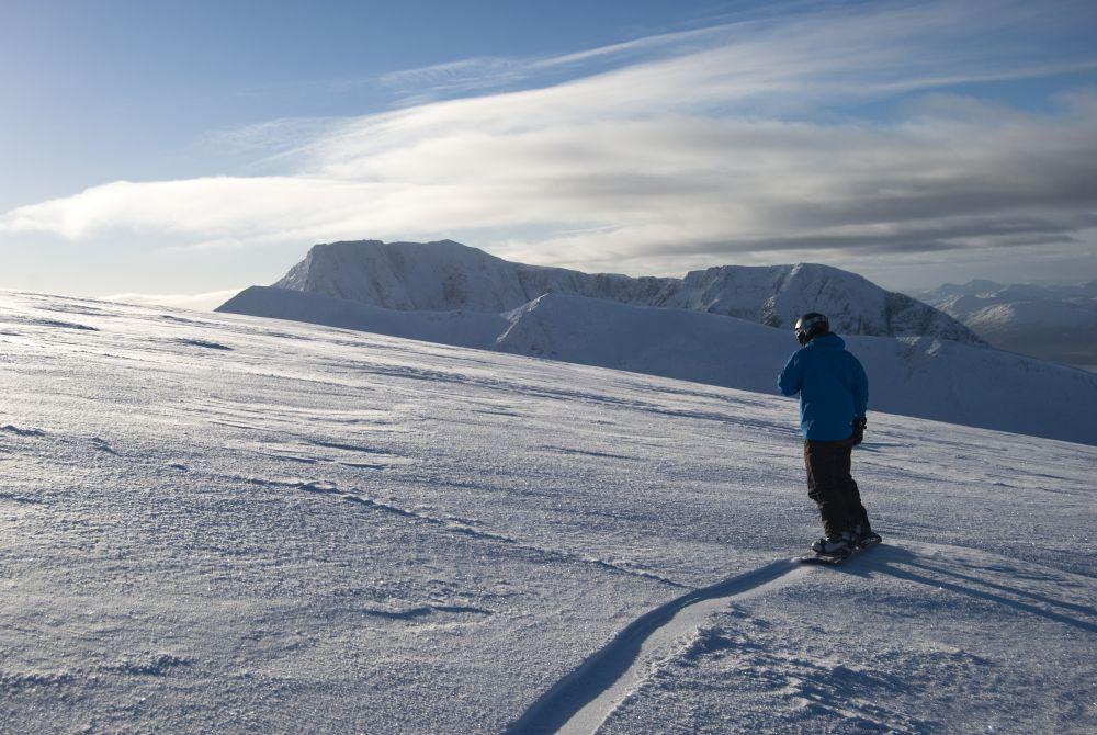 Snowboarding at Nevis Range