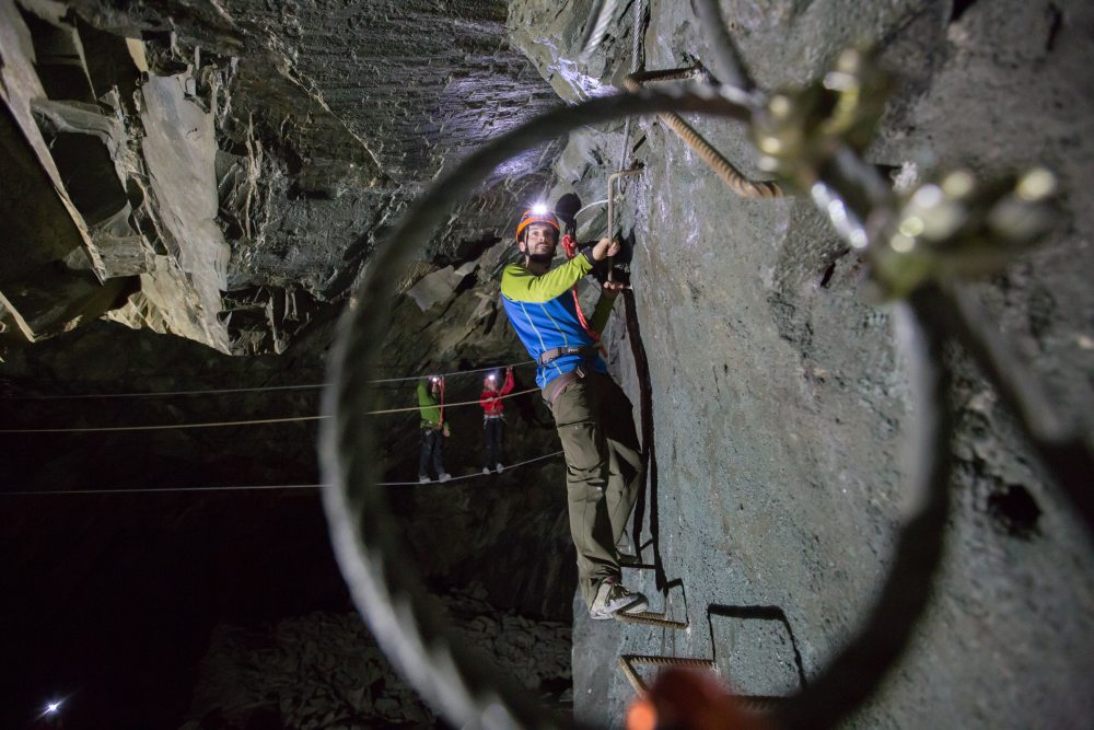 Indoor via ferrata course in the Lake District - Honister