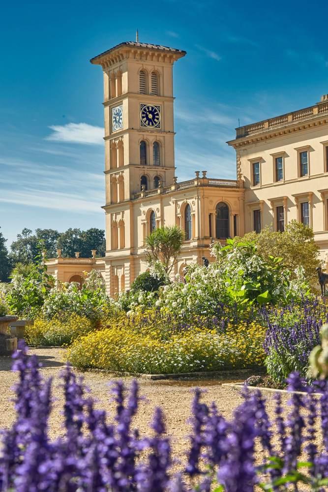 Osbourne House flower beds in summer