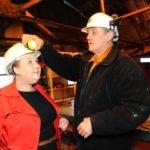 Preparing to go underground - Pig Pit Museum
