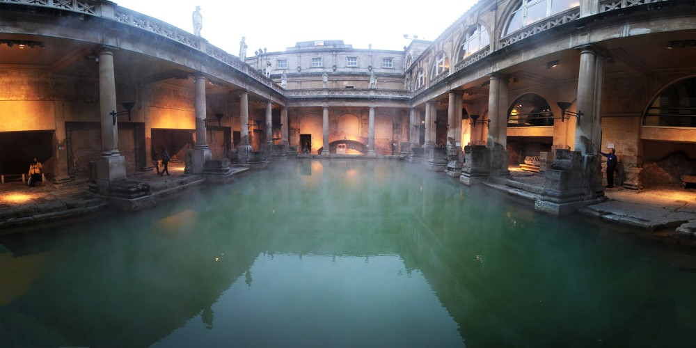 The Roman Baths in Bath (UK)