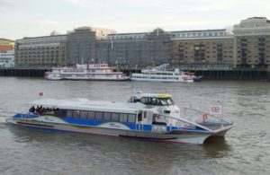 TFL River Thames Clipper in London