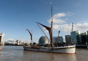 Sailing Barge Will on the River Thames in central London
